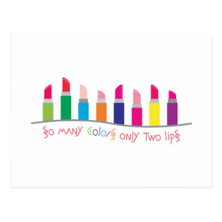 Lipstick Colors Border Postcard