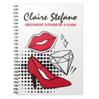 Lipstick Distributor Beauty Kiss Modern Glamour Notebook