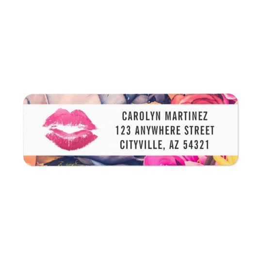 Lipstick Distributor Lip Kiss Return Address Label