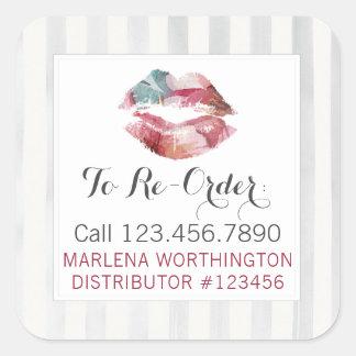 Lipstick Distributor Watercolor Lip Re-Order Label
