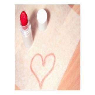 Lipstick Heart Post Card