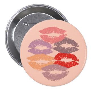 Lipstick Kisses 7.5 Cm Round Badge