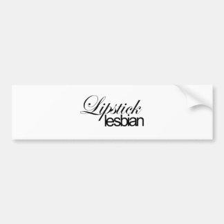 Lipstick Lesbian Car Bumper Sticker