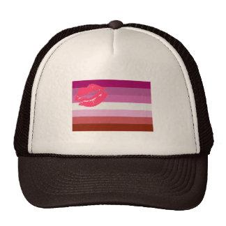 Lipstick Lesbian Pride Flag Hat