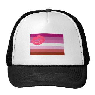 Lipstick Lesbian Pride Flag Trucker Hats