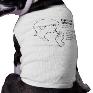 LIPSTICK LESBIAN SLEEVELESS DOG SHIRT