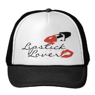 """""""Lipstick Lover"""" Black and White Trucker Snapback Mesh Hat"""