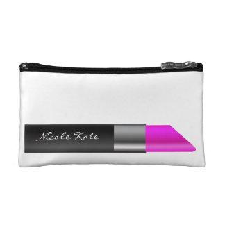 Lipstick Monogram Cosmetic Bag