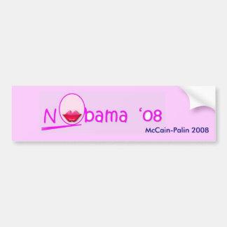 Lipstick NOBama Bumper Sticker