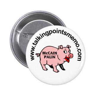 Lipstick on a Pig Pinback Buttons