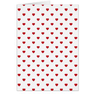 Lipstick Red Candy Polka Dot Hearts On White Card