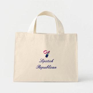 Lipstick Republican Striped Canvas Bag