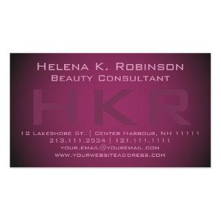 Lipstick Shimmer Elegant Beauty Consultant Pack Of Standard Business Cards