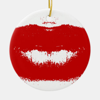 Lipstick Smudge on Tissue Christmas Ornament