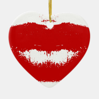 Lipstick Smudge on Tissue Christmas Ornament