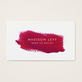 Lipstick Swatch Make Up Artist Business Cards