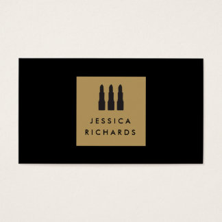 Lipstick Trio Logo for Freelance Makeup Artist I Business Card