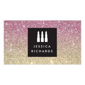 Lipstick Trio Logo for Freelance Makeup Artist IV Pack Of Standard Business Cards