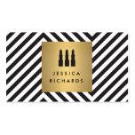 Lipstick Trio Logo on Retro Black/White Pattern II Pack Of Standard Business Cards