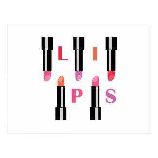 Lipsticks Lips Post Cards
