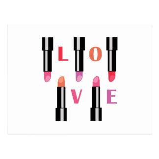 Lipsticks Love Post Cards