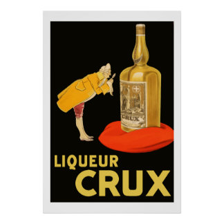 Liqueur Crux 1923 (Restored vintage french Ads) Poster