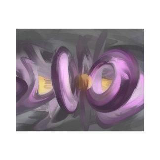 Liquid Amethyst Pastel Abstract Gallery Wrap Canvas