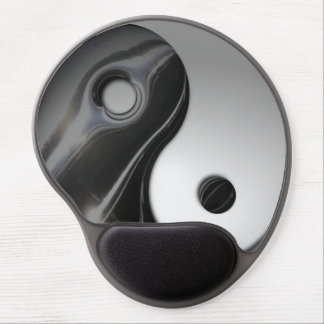 Liquid Black Yin Yang (Customizable) Gel Mouse Mat