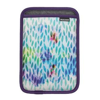 Liquid Blue Abstract Art iPad Mini Sleeve