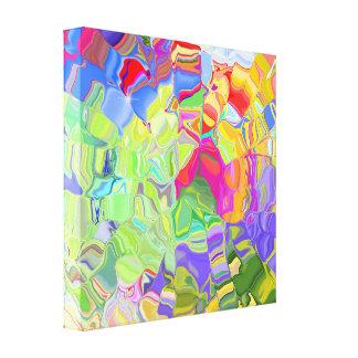 Liquid Color Wrapped Canvas Print