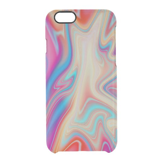 Liquid colorful paint clear iPhone 6/6S case