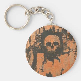 Liquid Copper Skull Key Ring