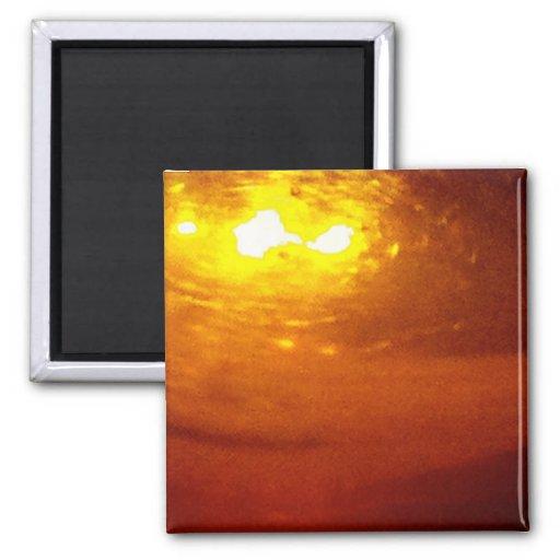 Liquid, Copper, Sunrise - sleek Magnet