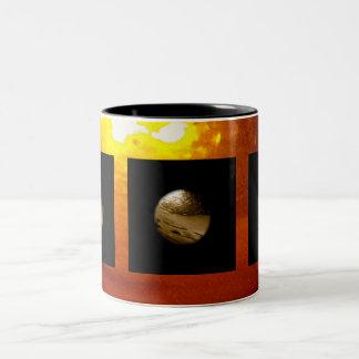 Liquid, Copper, Sunrise - sleek Two-Tone Coffee Mug
