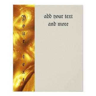 Liquid,faux,gold,pattern,shiny,hipster,fun,trendy, 11.5 Cm X 14 Cm Flyer