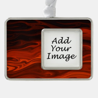 Liquid Fire Silver Plated Framed Ornament