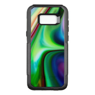 Liquid Flowing Abstract Rainbow of Colors OtterBox Commuter Samsung Galaxy S8+ Case