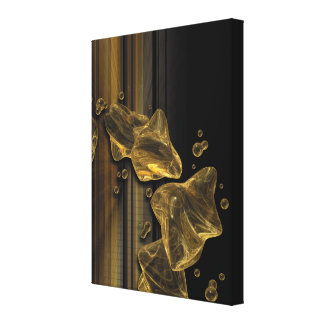 Liquid Gold Abstract Canvas Print Gallery Wrapped Canvas