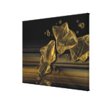 Liquid Gold Abstract Canvas Print Stretched Canvas Print