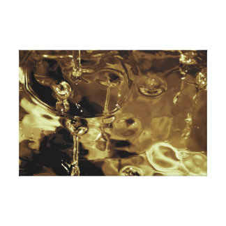 Liquid Gold Abstract Photograph Stretched Canvas Print