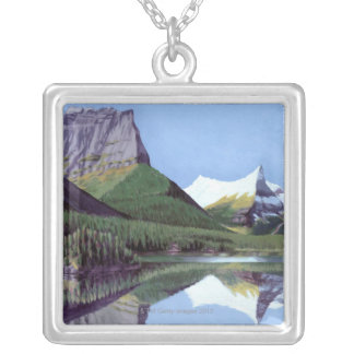 Liquid Library 5 Silver Plated Necklace