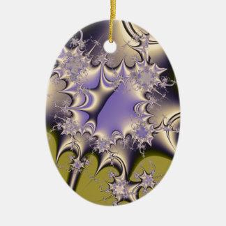 Liquid Metal Ceramic Oval Decoration
