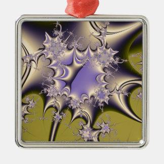Liquid Metal Silver-Colored Square Decoration