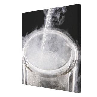 Liquid Nitrogen being poured into a Dewar flask Canvas Prints