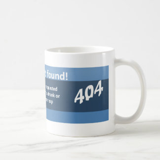 Liquid not found 404 coffee mug