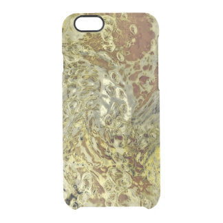 Liquid Oily Pattern Texture Clear iPhone 6/6S Case