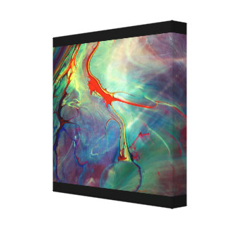 Liquid Paint Stretched Canvas Print