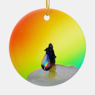 Liquid Photography - Rainbow Drops Christmas Ornament