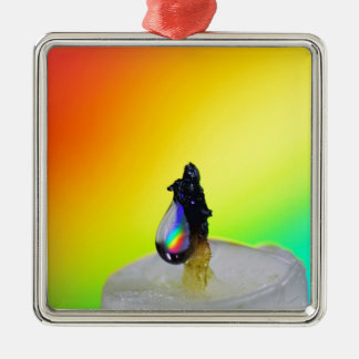 Liquid Photography - Rainbow Drops Christmas Ornament