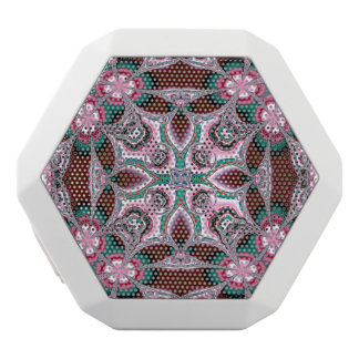 Liquid Pink Floral Abstract White Boombot Rex Bluetooth Speaker